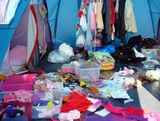 Mess within tent