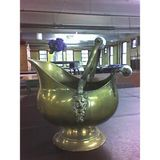 MonkeeSee says: in the four hours that passed I thrifted and bought this brass pitcher at Salvation Army on 46th street.