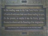 MonkeeSee says: one of many plaques embedded in sidwalk on 41st street - Library  Walk between Madison and Fifth Ave. NYC