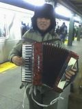 MonkeeSee says: subway musician. Bedford ave stop. Brooklyn, NY