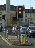 Smiley on the traffic lights in Scarborough