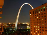 St Louis gateway arch - from our hotel
