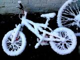 Snow on bike