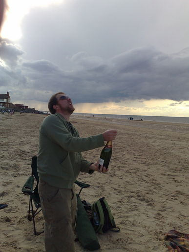 Bolly on the beach