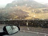 Snowing on the a82