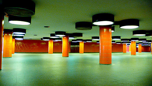 Orange underpass