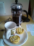 Home made mince pies and coffee