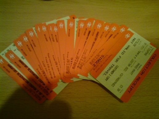 Tickets, tickets and more tickets