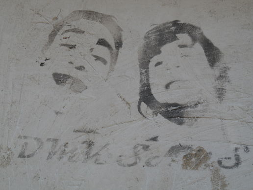 Stencils, graffiti and fascist remains  from Huesca and surrounding towns...