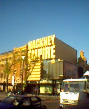While taking this picture I was asked for directions to the Hackney Empire. Not really.