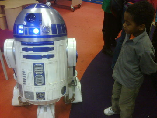 R2D2 in the library
