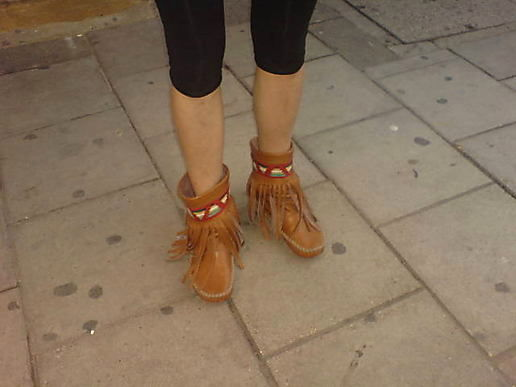 Spotted on kingsland road, jess was sporting these amerindian beauties