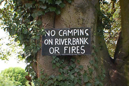Don't go camping on any fires.
