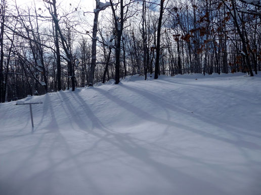 More snow shadows