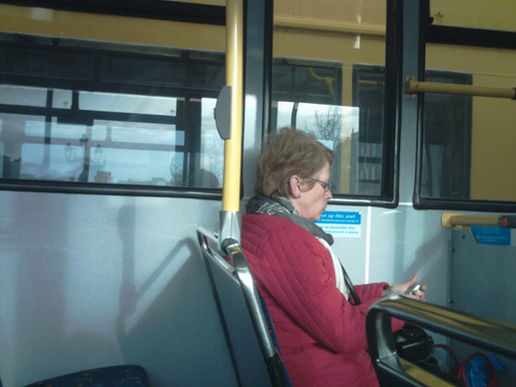 Texting on the bus