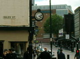 Stopped clock in Coventry town centre