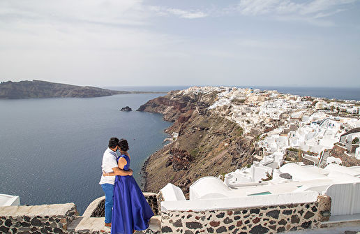 Santorini Engagement Photography