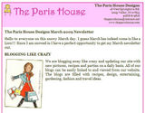The Paris House March Newsletter