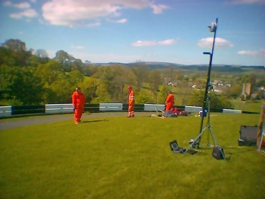Camera Crane at Barbon Hill Climb