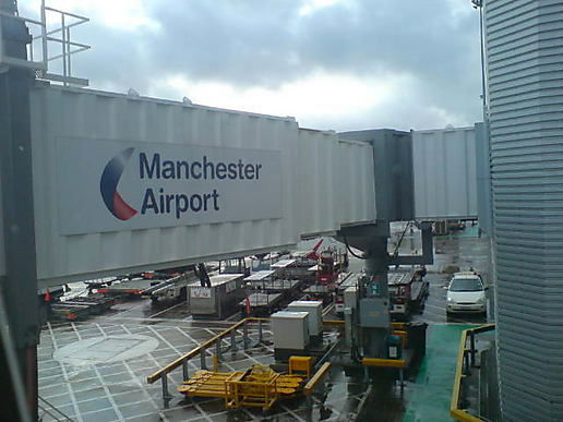Arrived at Manchester airport