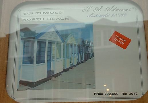 price of a beach hut - lower end!